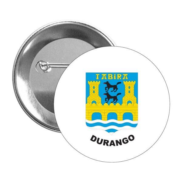 chapa escudo heraldico durango
