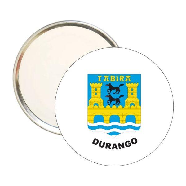 espejo redondo escudo heraldico durango
