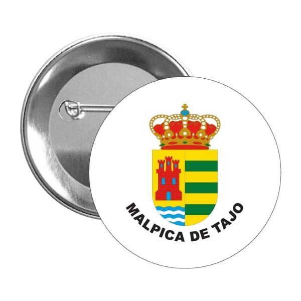 chapa escudo heraldico malpica de tajo