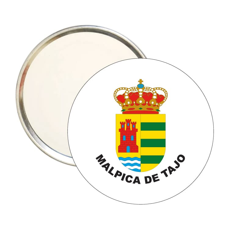 espejo redondo escudo heraldico malpica de tajo