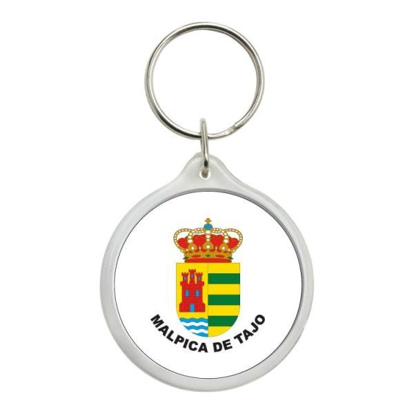 llavero redondo escudo heraldico malpica de tajo