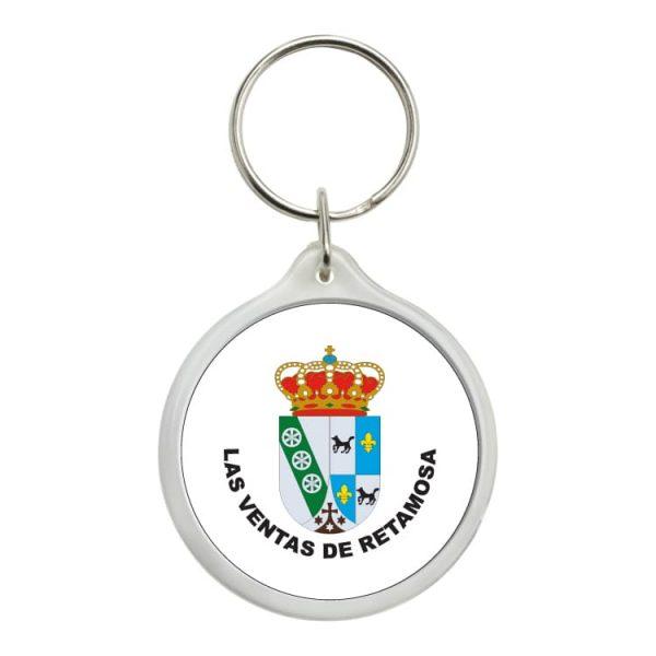 llavero redondo escudo heraldico las ventas de retamosa