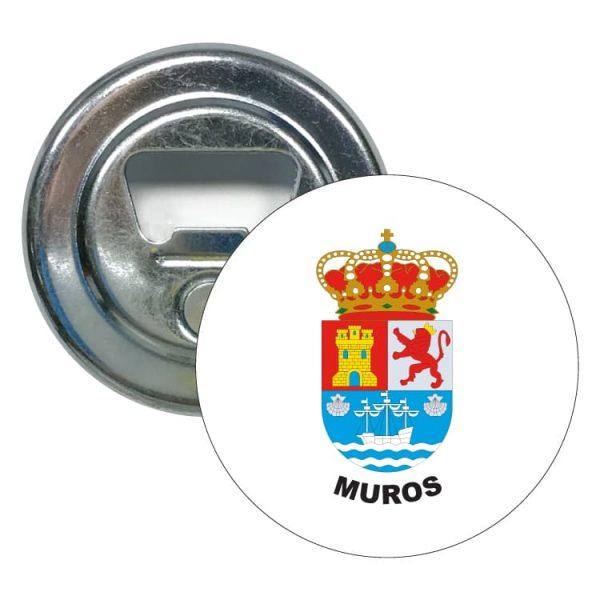 abridor redondo escudo heraldico muros