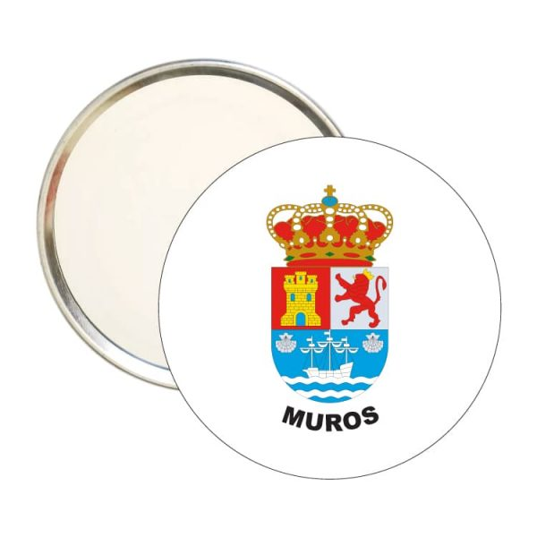 espejo redondo escudo heraldico muros