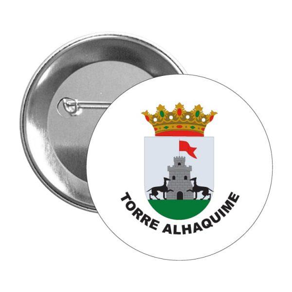 chapa escudo heraldico torre alhaquime