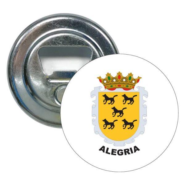 abridor redondo escudo heraldico alegria