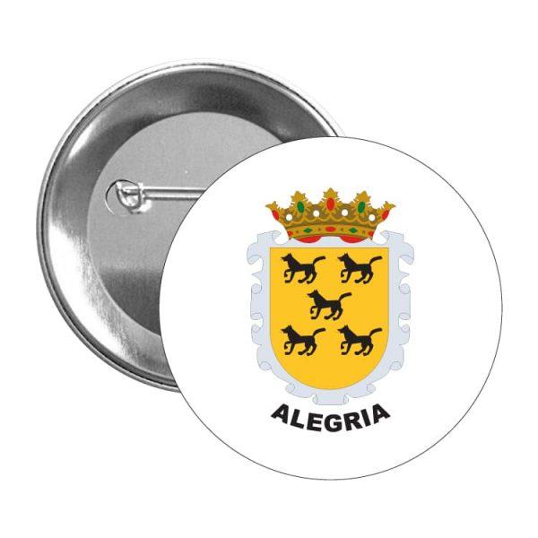 chapa escudo heraldico alegria