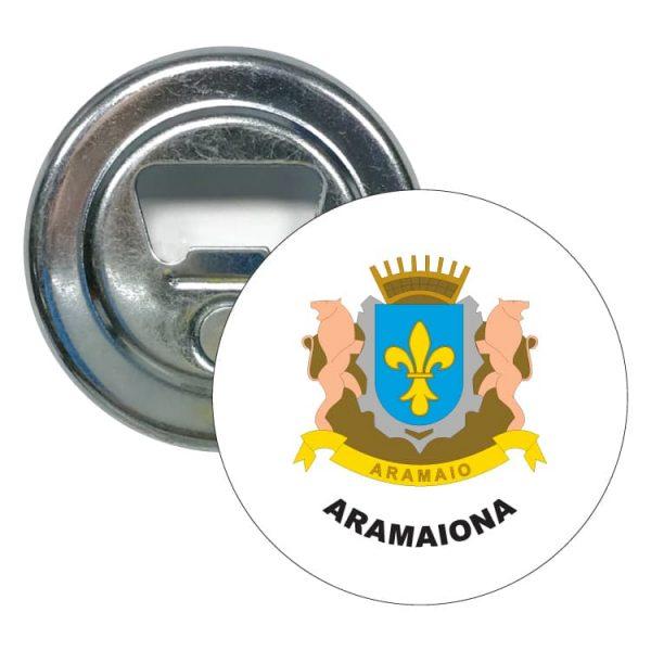 abridor redondo escudo heraldico aramaiona