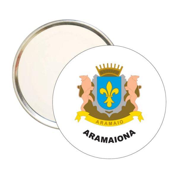 espejo redondo escudo heraldico aramaiona