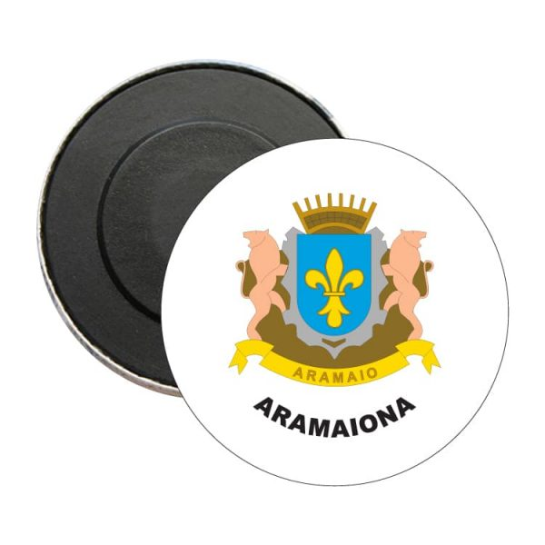 iman redondo escudo heraldico aramaiona