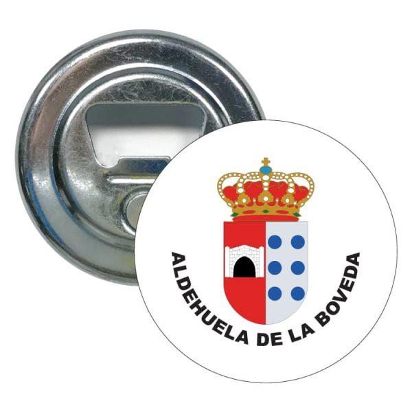 abridor redondo escudo heraldico aldehuela de la boveda