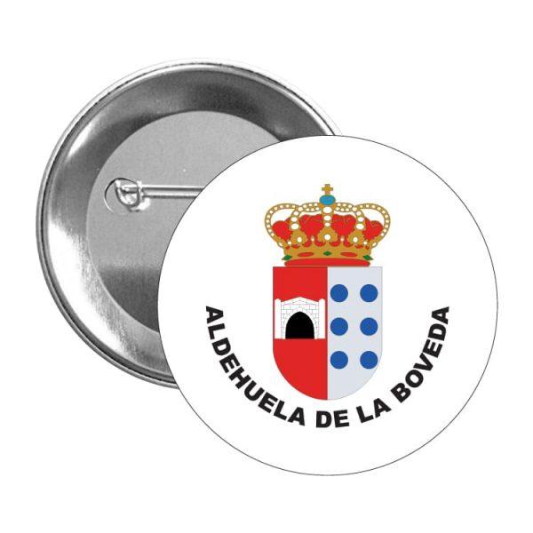 999 chapa escudo heraldico aldehuela de la boveda