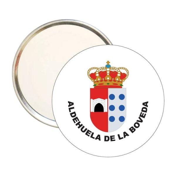espejo redondoescudo heraldico aldehuela de la boveda