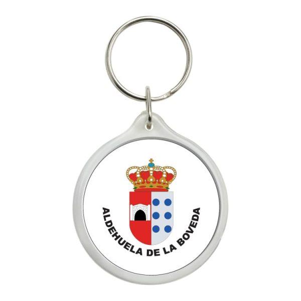 llavero redondo escudo heraldico aldehuela de la boveda