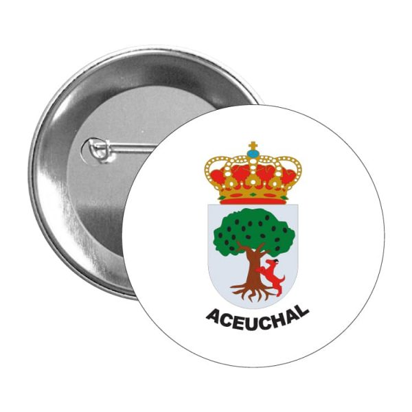 1430 chapa escudo heraldico aceuchal