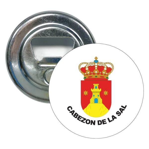 abridor redondo escudo heraldico cabezon de la sal