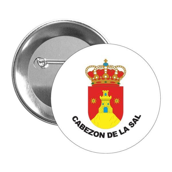 chapa escudo heraldico cabezon de la sal