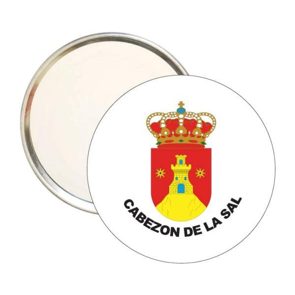 espejo redondo escudo heraldico cabezon de la sal