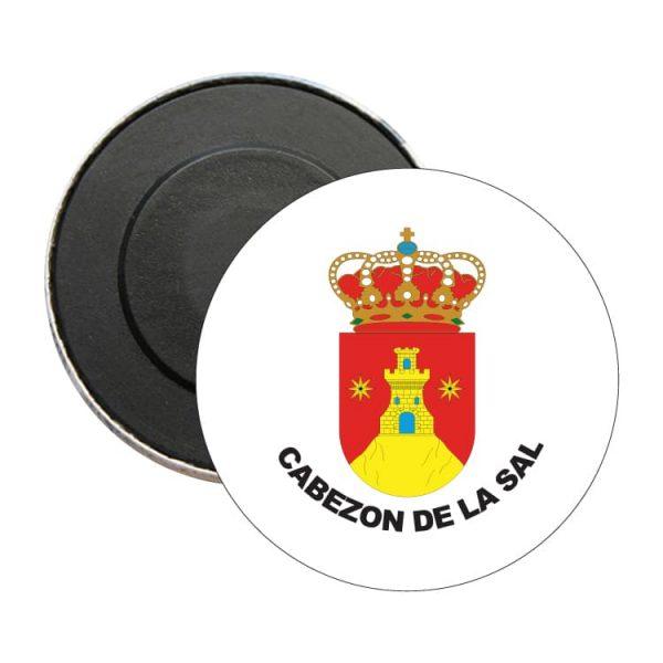 iman redondo escudo heraldico cabezon de la sal