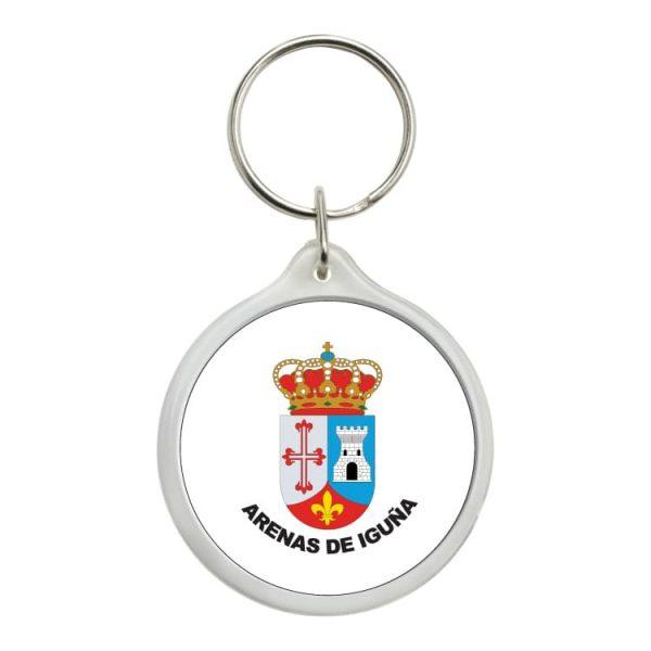 1440 llavero redondo escudo heraldico arenas de iguña