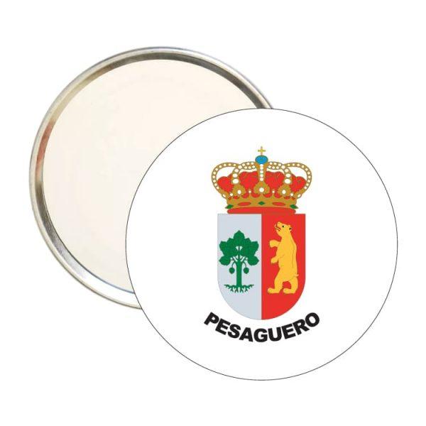 1443 espejo redondo escudo heraldico pesaguero