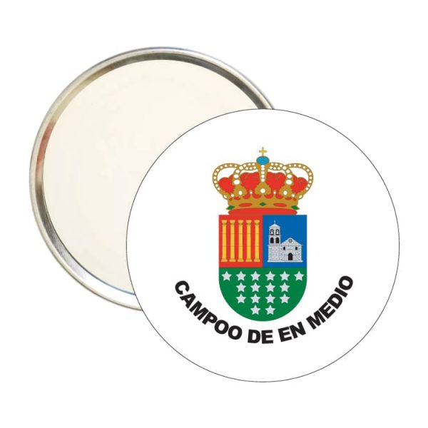 1449 espejo redondo escudo heraldico campoo de en medio