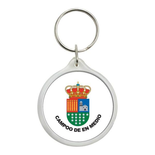 1449 llavero redondo escudo heraldico campoo de en medio