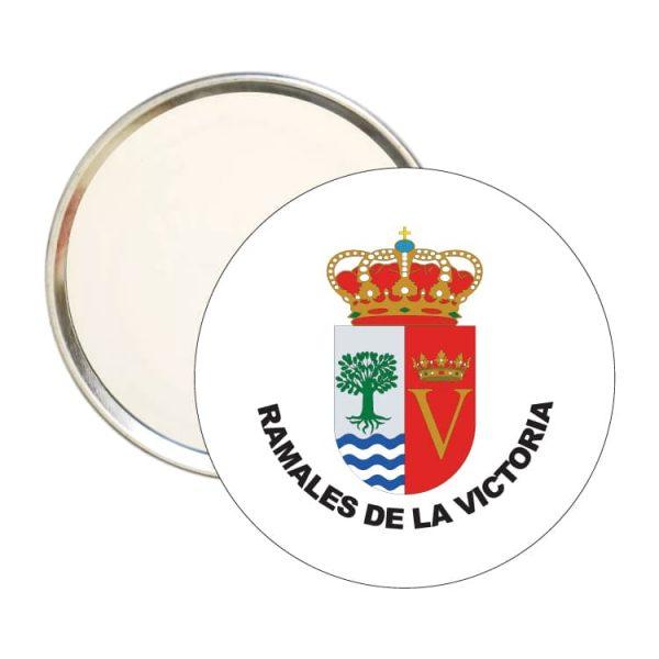 1451 espejo redondo escudo heraldico ramales de la victoria