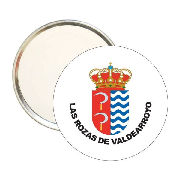 1454 espejo redondo escudo heraldico las rozas de valdearroyo