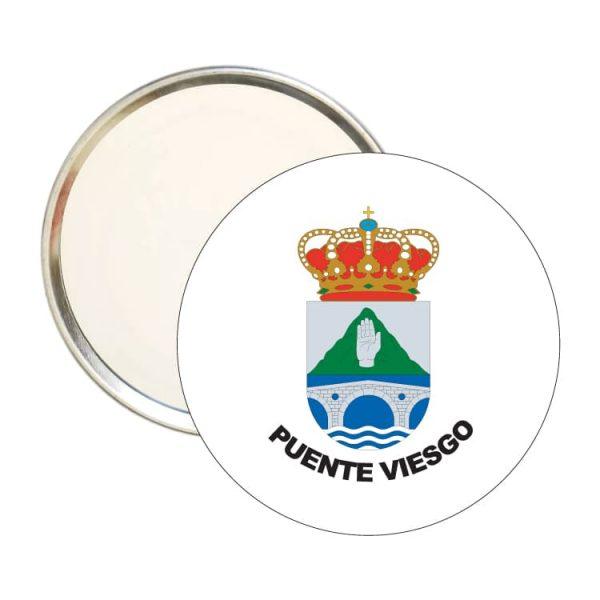 1455 espejo redondo escudo heraldico puente viesgo