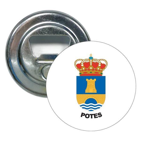 1456 abridor redondo escudo heraldico potes