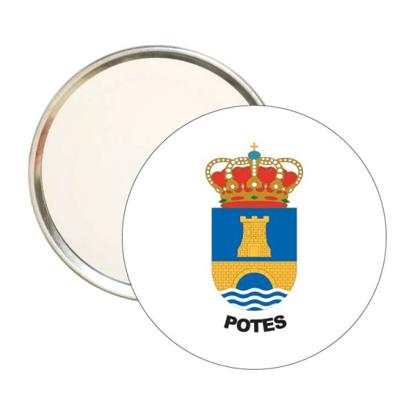 1456 espejo redondo escudo heraldico potes