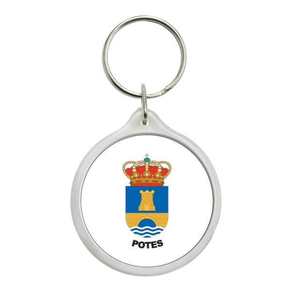 1456 llavero redondo escudo heraldico potes