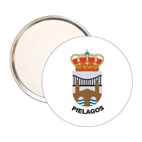 1457 espejo redondo escudo heraldico pielagos