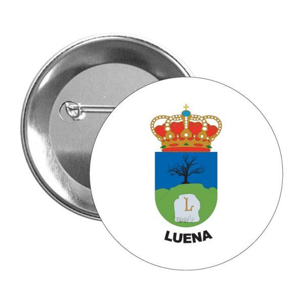 1458 chapa escudo heraldico luena