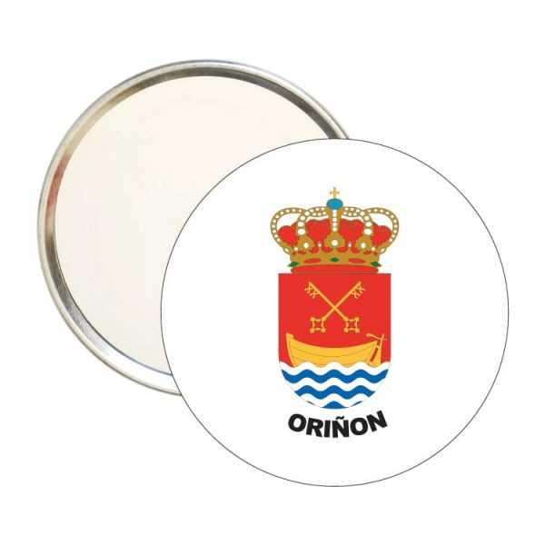 1464 espejo redondo escudo heraldico oriñon