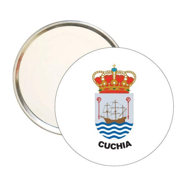 1465 espejo redondo escudo heraldico cuchia