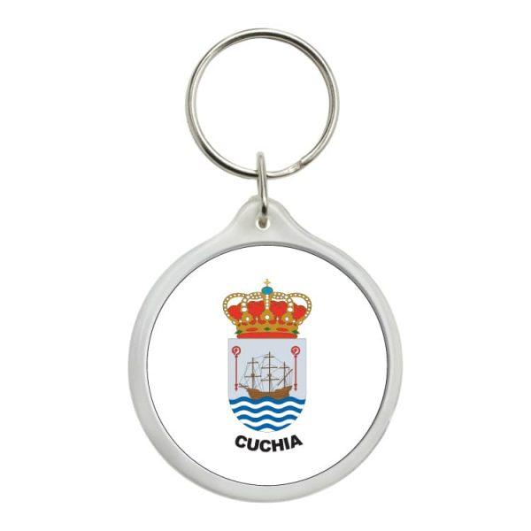 1465 llavero redondo escudo heraldico cuchia