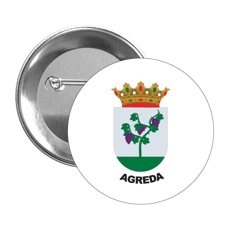1472 chapa escudo heraldico agreda