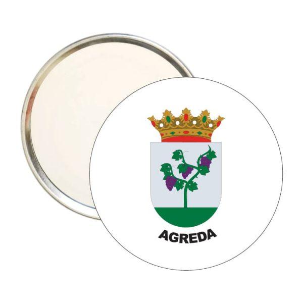 1472 espejo redondo escudo heraldico agreda