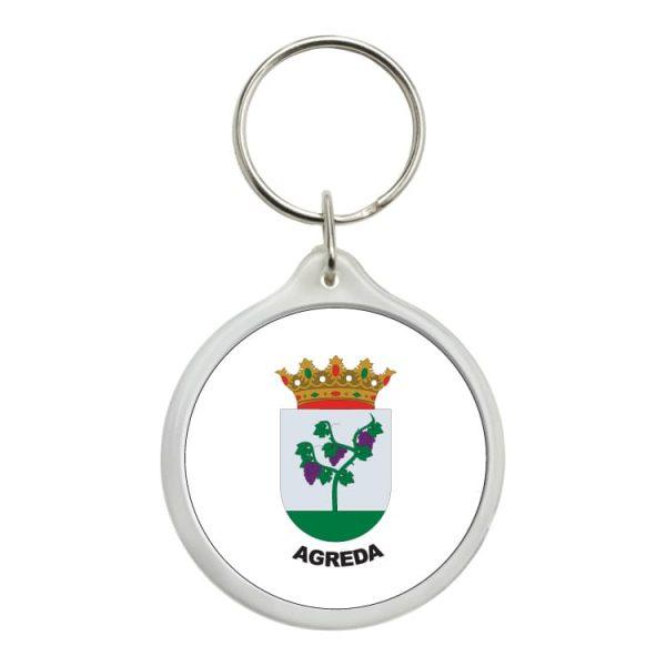 1472 llavero redondo escudo heraldico agreda