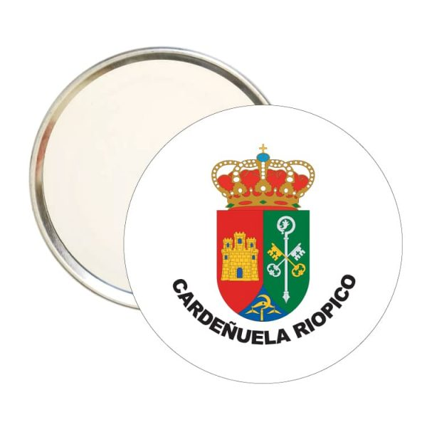 1473 espejo redondo escudo heraldico cardeñuela riopico
