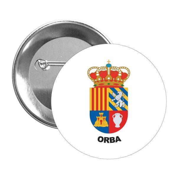 1474 chapa escudo heraldico orba