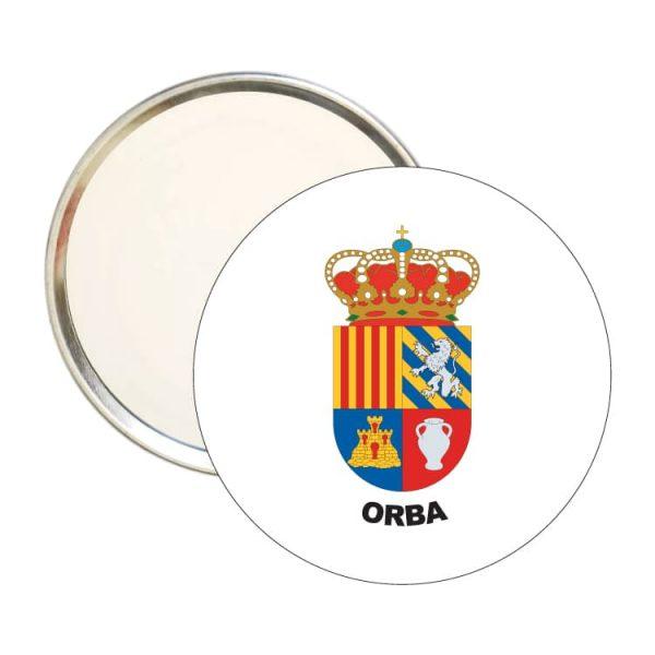 1474 espejo redondo escudo heraldico orba