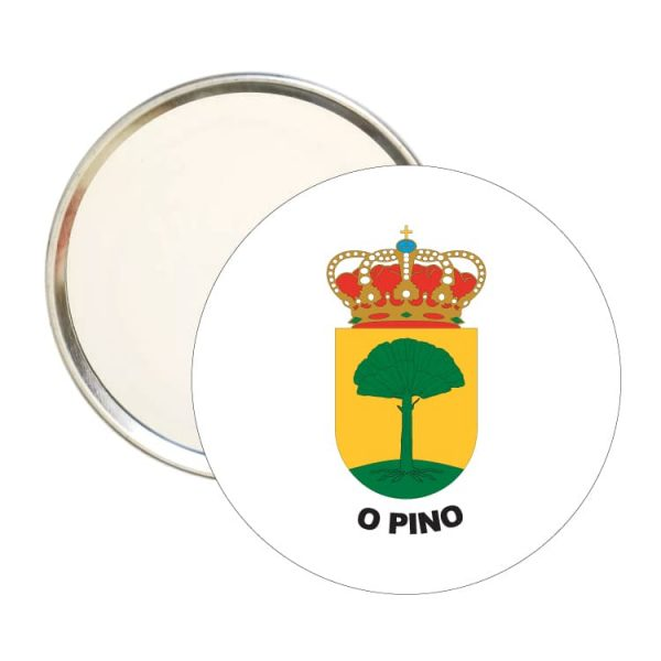 1475 espejo redondo escudo heraldico o pino