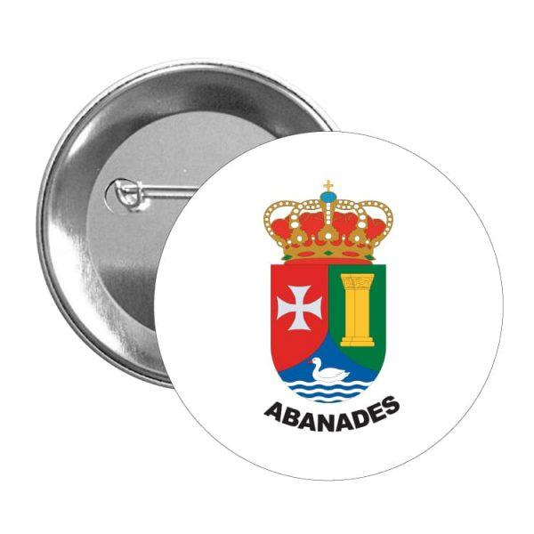 1476 chapa escudo heraldico abanades
