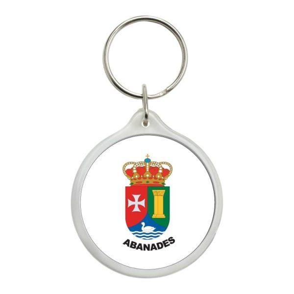 1476 llavero redondo escudo heraldico abanades