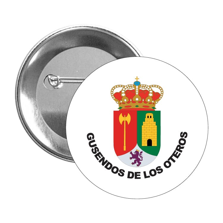 1478 chapa escudo heraldico gusendos de los oteros