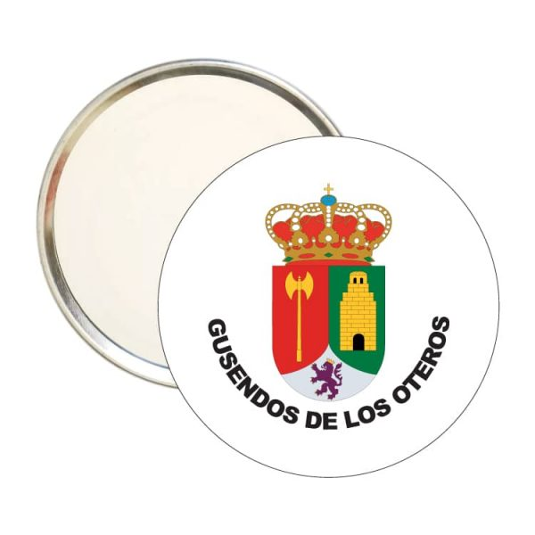 1478 espejo redondo escudo heraldico gusendos de los oteros