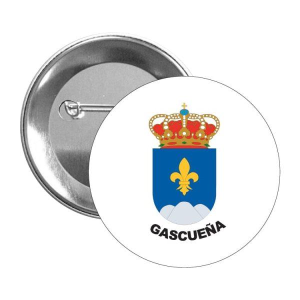1479 chapa escudo heraldico gascueña